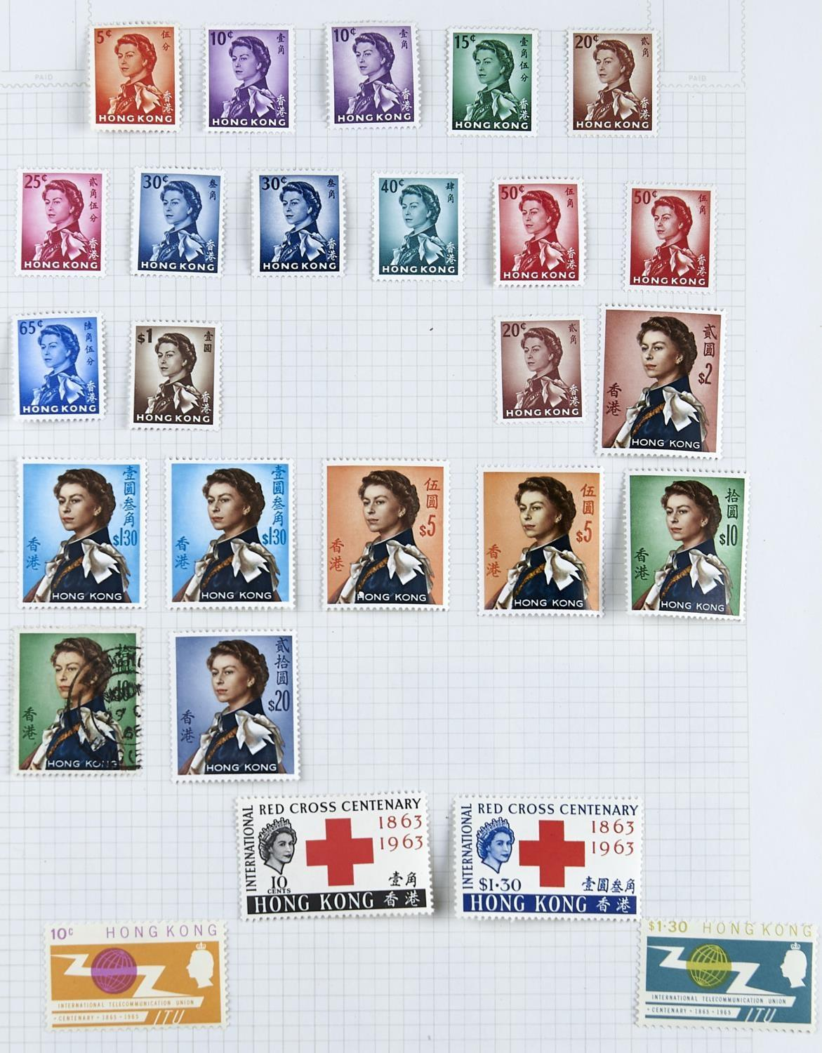 HONG KONG 1907-73 untidy collection inc. used 1904-06 values to 50c (2), 1921-37 values to $2 (3),