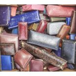 MISCELLANEOUS ANTIQUE AND VINTAGE LEATHER AND OTHER JEWEL BOXES, VARIOUS, MAINLY BRITISH, LONDON AND