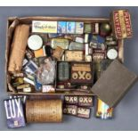 VINTAGE ADVERTISING. PRINTED PACKAGING, MAINLY BRITISH BRANDS, INCLUDING TIN BOXES AND CANISTERS,