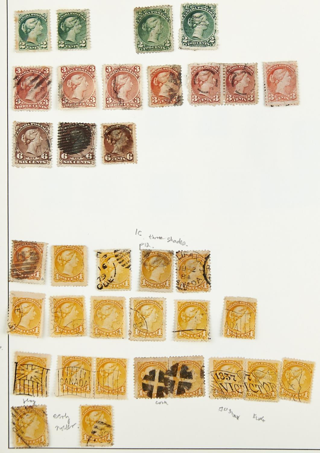 CANADA ETC. 1868-1965The mainly used collection inc. large Queens to 15c, small Queens with 1c (52),