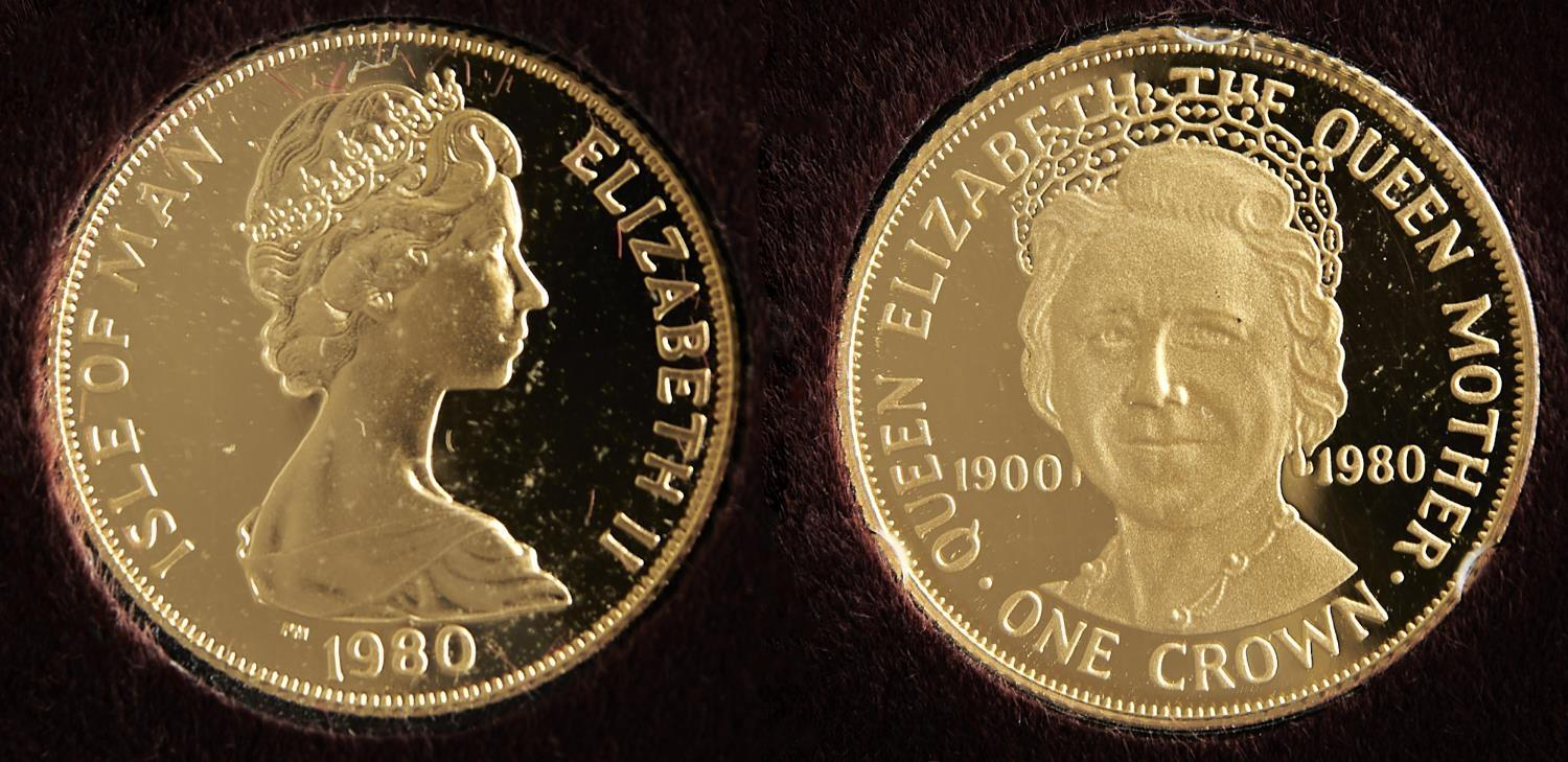 GOLD COIN. ISLE OF MAN CROWN 1980