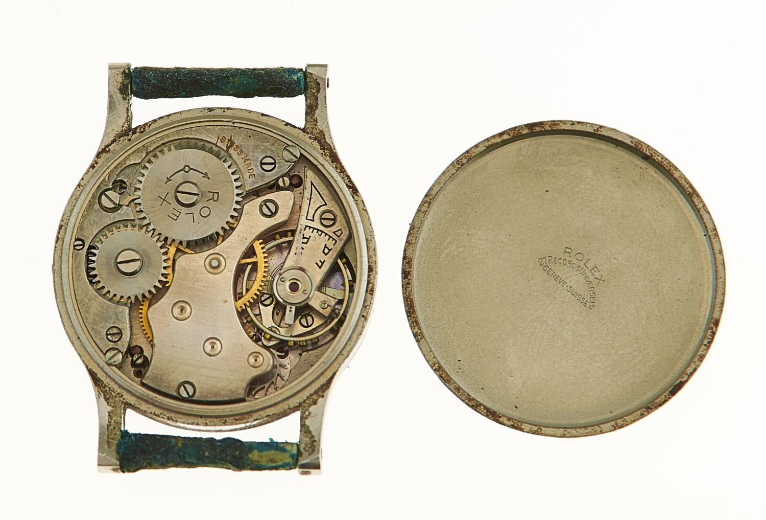 A ROLEX STAINLESS STEEL GENTLEMAN'S WRISTWATCH, 32MM, MARKED INSIDE CASEBACK ROLEX 27 RECORDS - Image 2 of 2