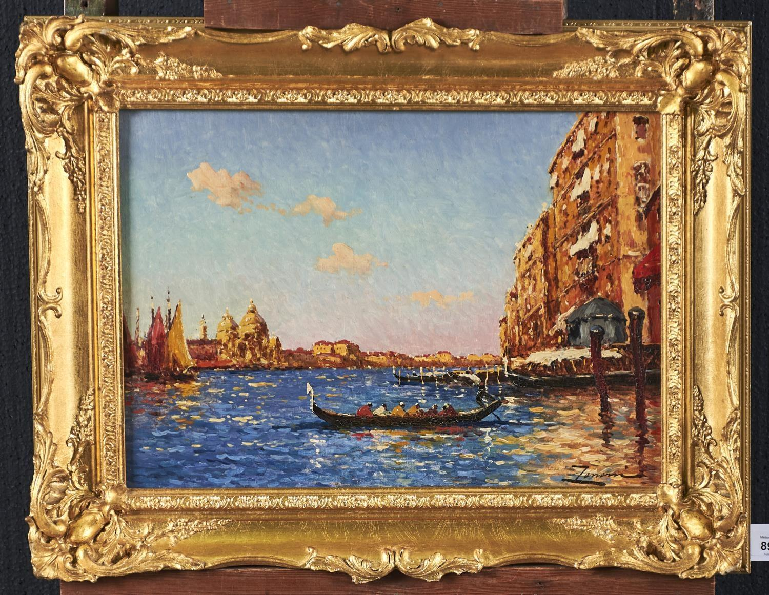ITALIAN SCHOOL, 19TH/EARLY 20TH CENTURY - THE GRAND CANAL, VENICE, INDISTINCTLY SIGNED, OIL ON - Image 2 of 3