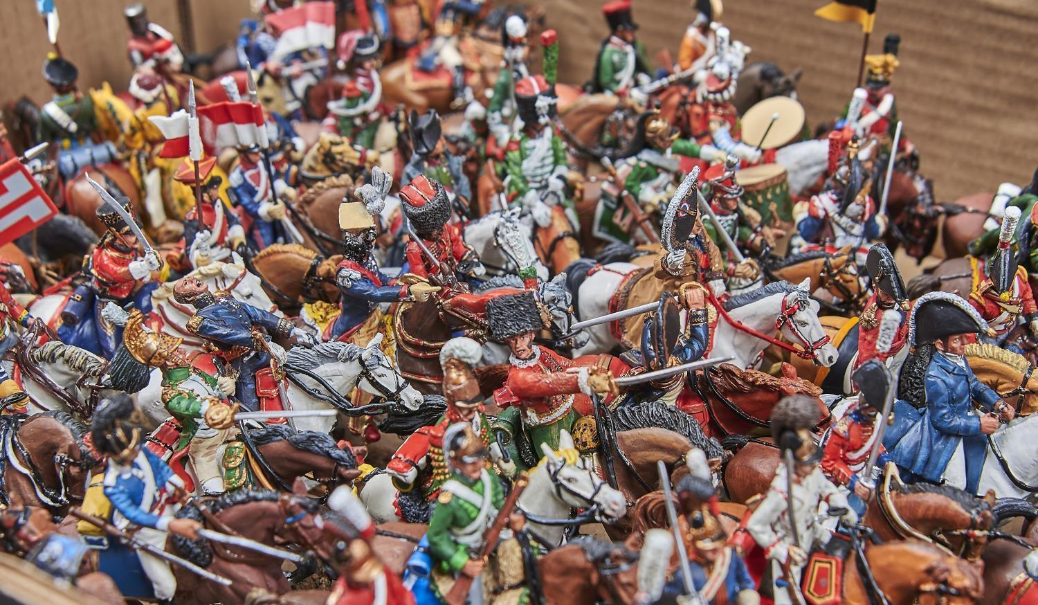 TOY SOLDIERS. A COLLECTION OF DEL PRADO PAINTED CAST METAL FIGURES ON HORSEBACK TO INCLUDE BRITISH - Image 2 of 2