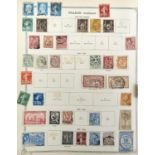 POSTAGE STAMPS. AN ORIGINAL OLD COLLECTION IN S G IDEAL ALBUM, MAINLY EARLIER, GENERALLY SPARSE