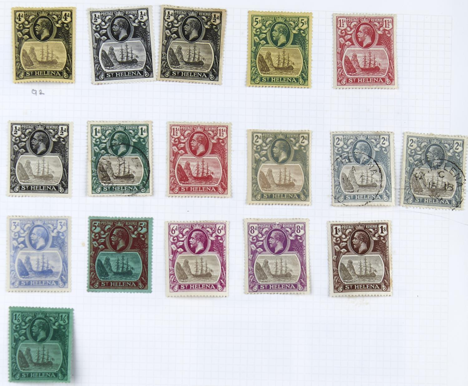 ASCENSION/ST.HELENA:1938-66 The mint Ascension collection inc. 1938-53 1/2d to 10/- selection with - Image 3 of 3