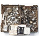 MISCELLANEOUS PLATED WARE, TO INCLUDE HOLLOW WARE AND FLATWARE
