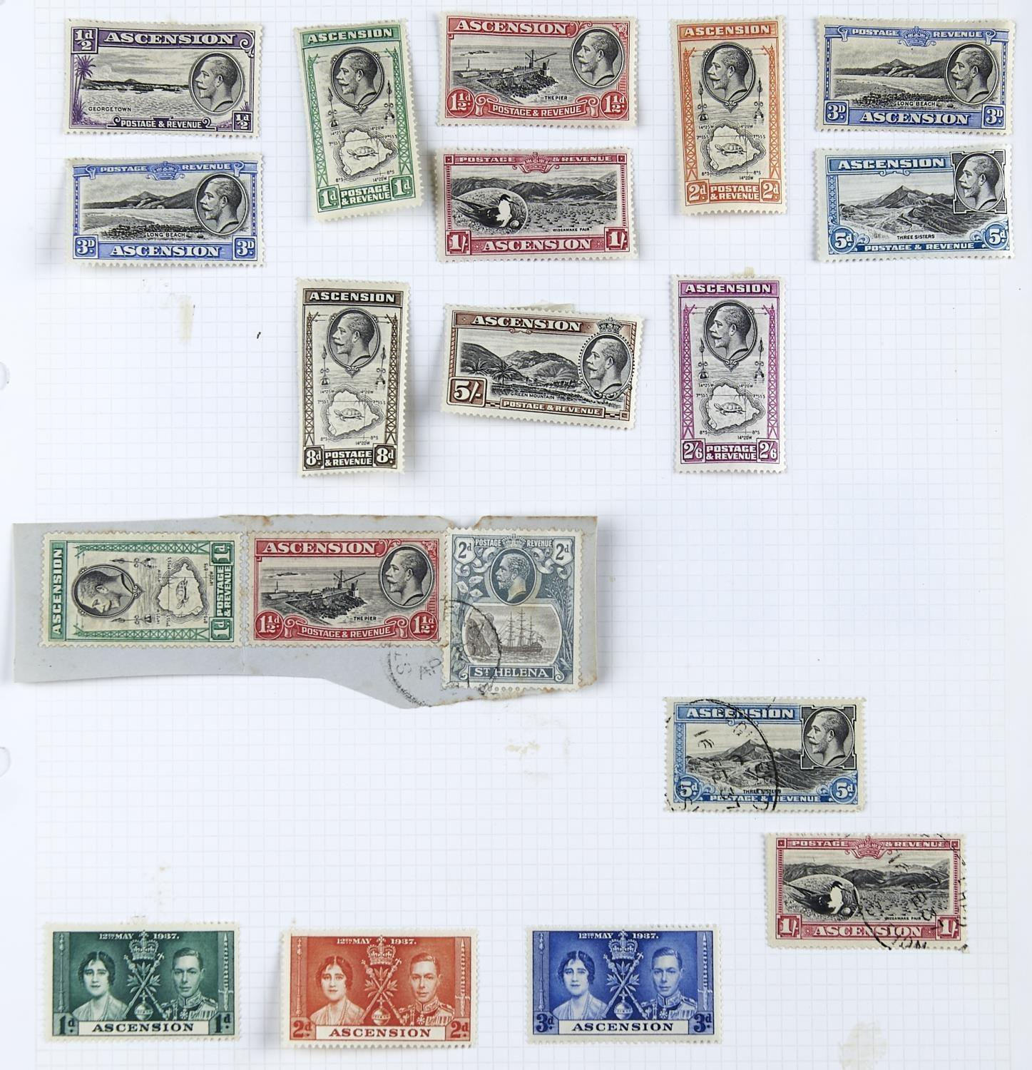 ASCENSION 1922-37 selection with mint 1922 1/2d to 3/- plus additional 1/2d (2, inc. one used & - Image 3 of 4
