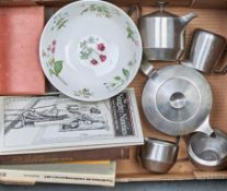 A J & J Wiggin Old Hall stainless steel Alveston tea service designed by Robin Welch, 1960's, a