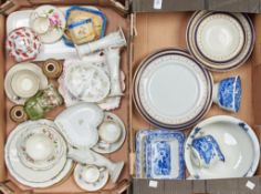 Miscellaneous decorative ceramics,to include Hutschenreuther breakfast service, printed with leaf