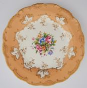 A set of ten Minton bone china dessert plates, early 20th c, printed and painted to the centre