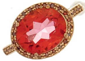 A pink ring, in gold, 3.2g, size N