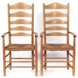 A pair of Cotswold School ash chairs, designed by Ernest Jimson and made by Neville Neal, late