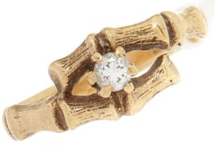 A 9ct gold diamond ring, 2.2g, size K