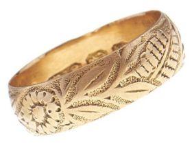 A Victorian 18ct gold wedding band, Birmingham 1896, 3.5g, size M Good condition