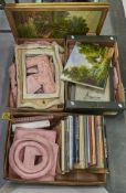 Miscellaneous pictures, books, frame mouldings, etc