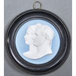 A plaster cast of the uniface medal of the EmperorNapoleon and Empress Josephinepublished by