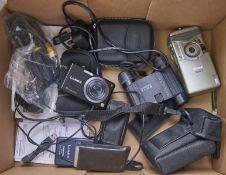 Binoculars. Swarovski 8x20b, a Nikon Nuviss compact camera, a Panasonic Lumix DMC-FX100 camera,