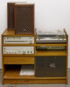 An Hitachi music system, comprising AM-FM stereo tuner, model FT-4000L, stereo amplifier model HA-