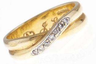 A diamond ring, in 18ct gold, 4.8g, size L Good condition, engraved initials inside