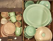 A quantity of Branksome pottery tea ware, together with Poole pottery breakfast and dinner ware,