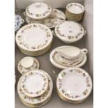 A Wedgewood bone china Mirabelle pattern dinner service Good condition