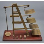 A brass ladder scale, DeGrave & Co London for the General Post Office, late 19th / early 20th c,
