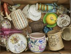 Miscellaneous ornamental ceramics, to include a 1950's mid century Poole pottery vase, Royal