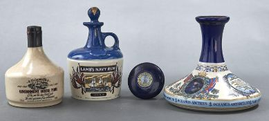 Wines and Spirits. British Navy Pusser's Rum, in presentation pottery bottle, 1 litre, 54.5% vol,