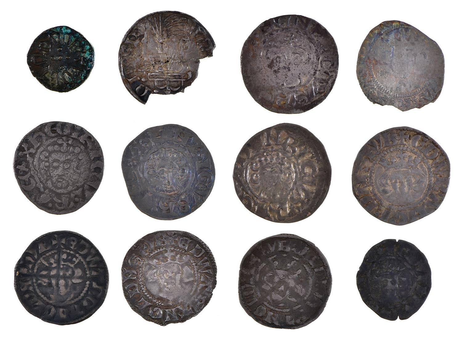 England, Anglo-Saxons, Aethelred II, Ae Sceat, MONNE, (ex-Seaby 85/- 1966), some verdigris, very