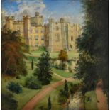 Edwin Frederick Holt (1830-1912) ' The West Front of Brancepeth Castle, Durham, signed, dated 187-