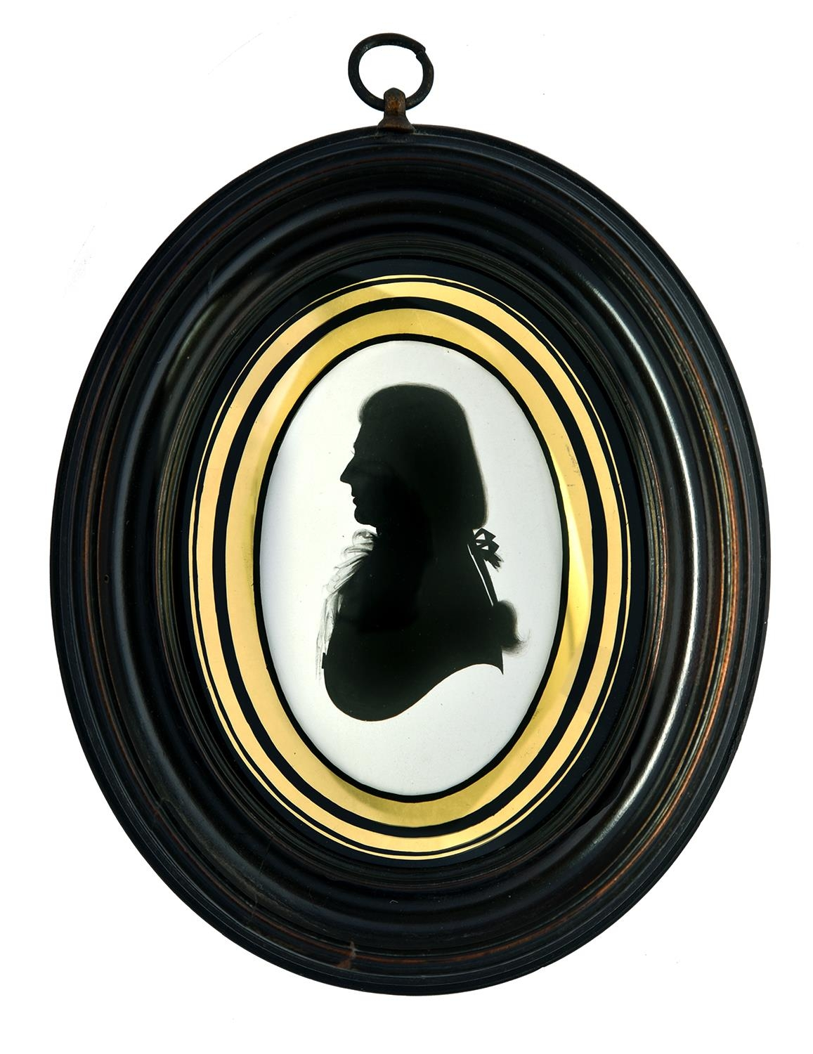 Houghtonand Bruce(fl. c1792-1796) - Silhouette of a Gentleman, wearing his hair in a 'military