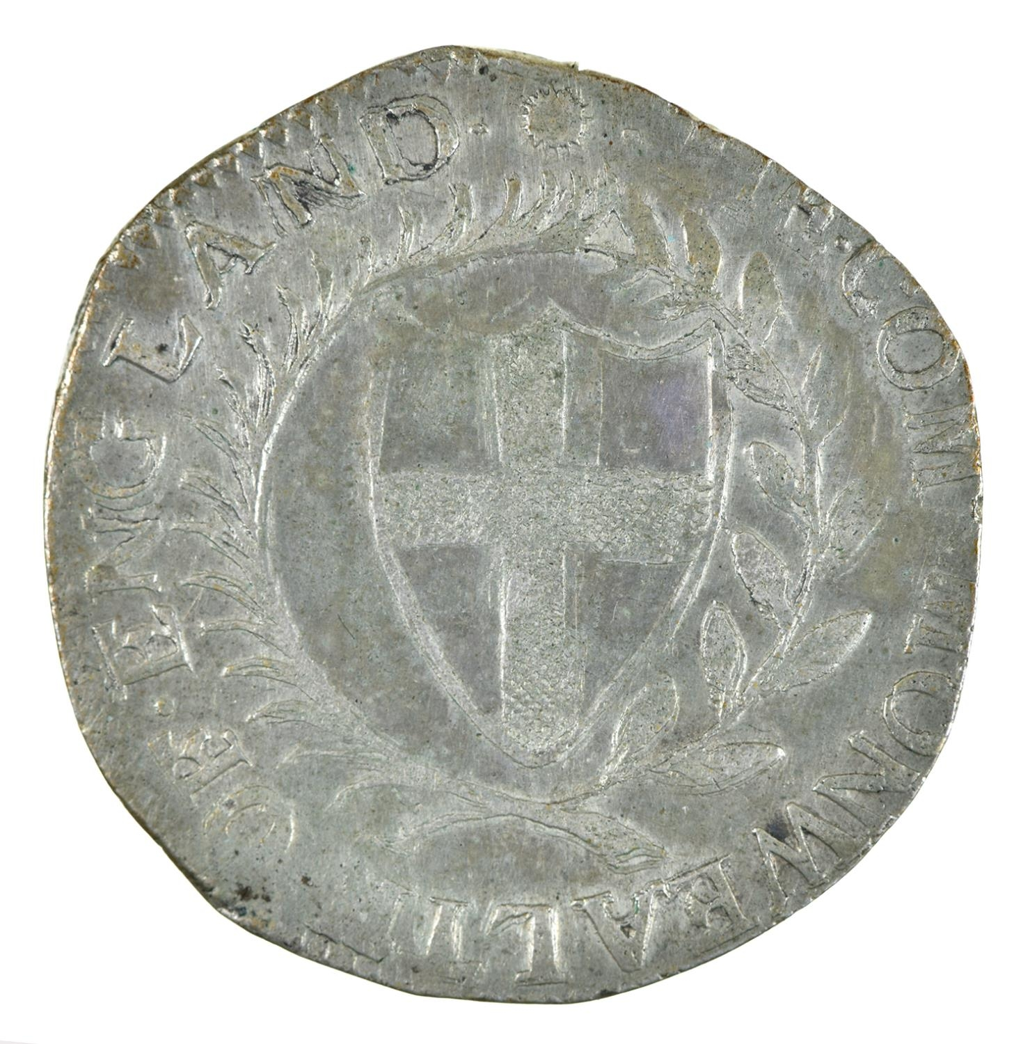 England, Commonwealth, Halfcrown, 1652, (extremely weak 5 at date), possibly a contemporary - Image 2 of 2