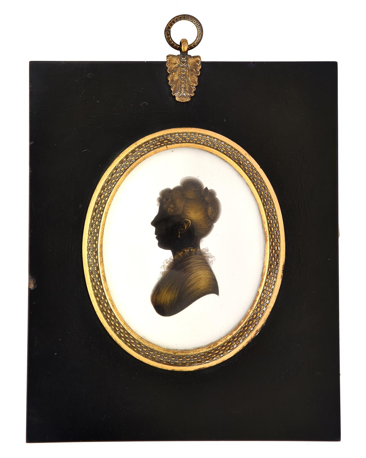 John Miers(c.1758-1821) - Silhouette of MrsHenry Reynolds,her hair dressed in antique Roman style