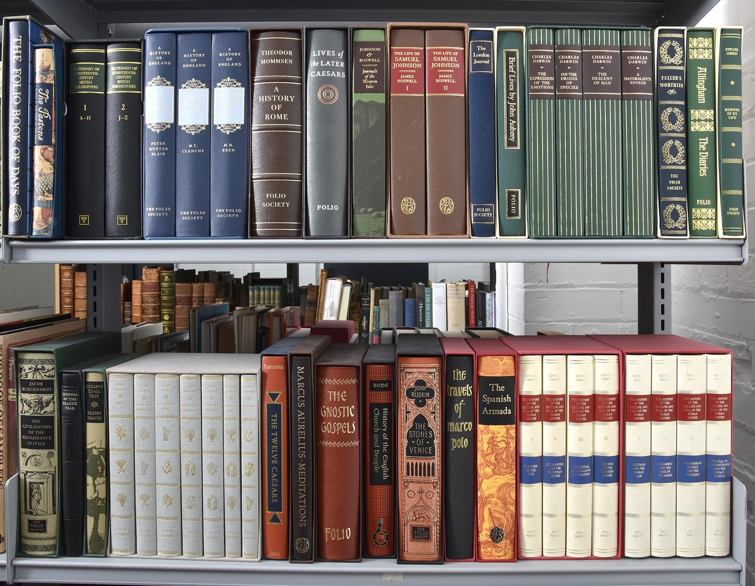 Folio Society. A collection, including multi volume sets, slip cased (4 shelves)
