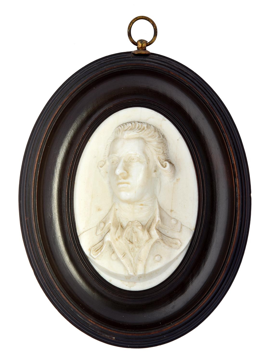 A glass paste portrait medallion of WilliamPitt the Younger, c1806impressed W Pitt to the