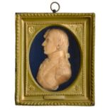 A moulded wax bas relief portrait of Lord Nelson by CatherineAndras (1775-1860), modelled in August