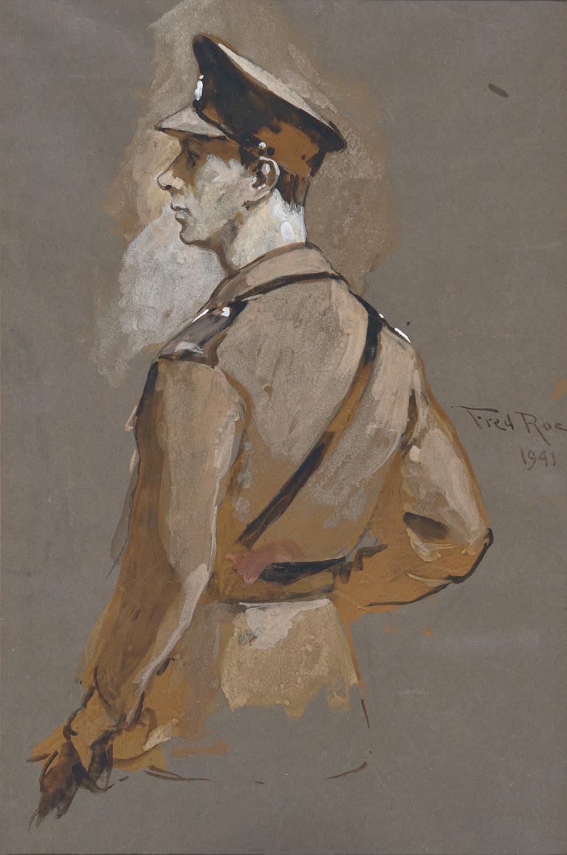 Frederick Roe RI (1864-1947) ' Portrait study of King George VI, half length in uniform, signed