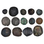Roman Imperial Coinage, Augustus with Agrippa, Nemausus, Ae As; Constantine Ae3; Urbs Roma Ae3/4;