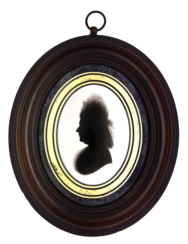 John field (1772-1848) in the Studio of John Miers(c1758-1821) - Silhouette of a Lady, wearing a