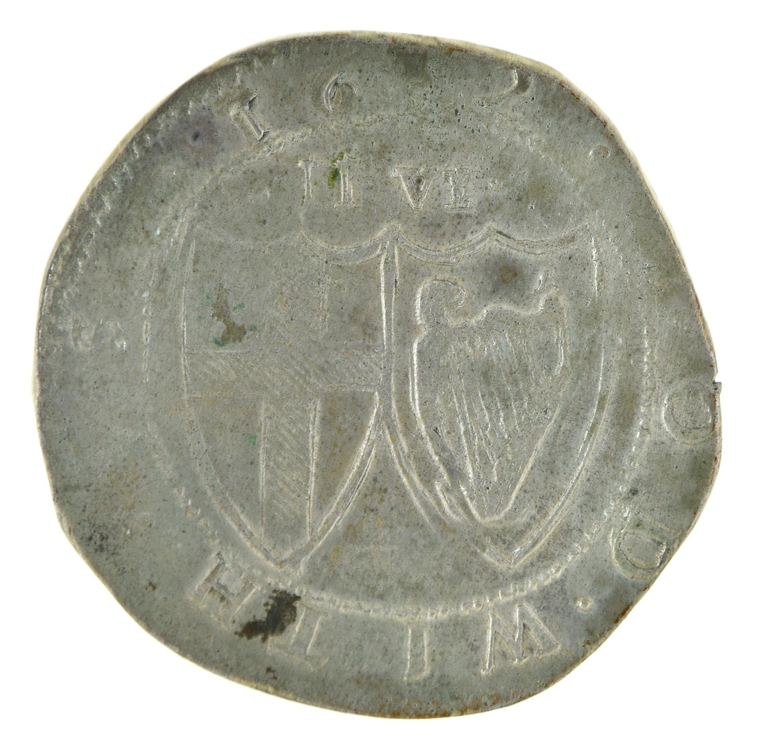 England, Commonwealth, Halfcrown, 1652, (extremely weak 5 at date), possibly a contemporary