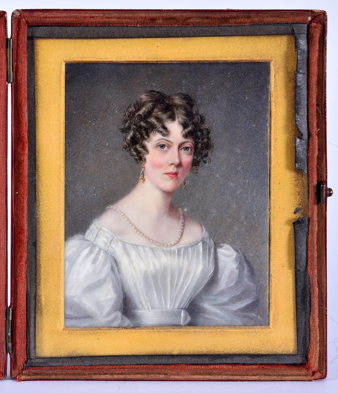 MariaAnn Chalon (1797-1877) - Portrait Miniature of a Lady of the Mainwaring Family,bust length,