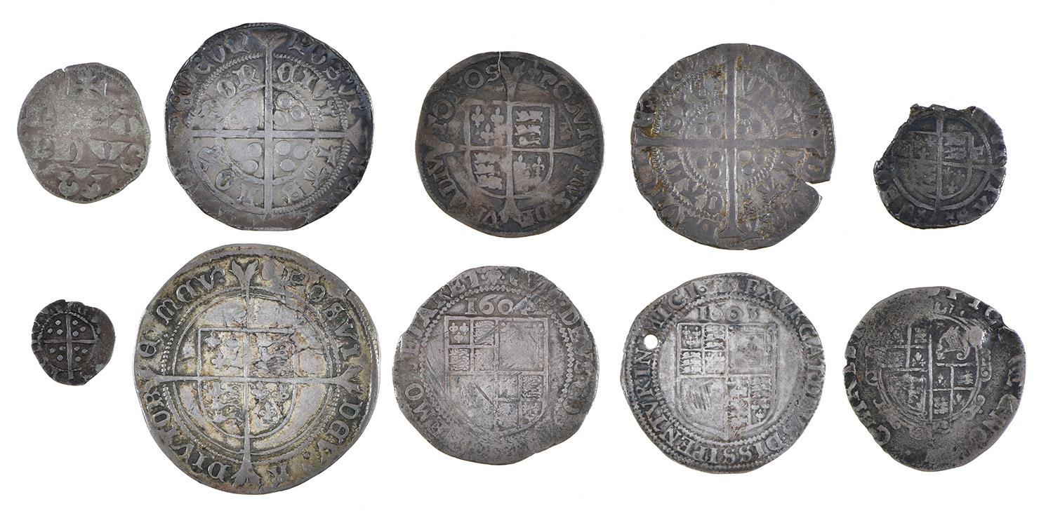 England, Hammered Silver, Henry VI, Groat, annulet issue, Calais, short flan crack, otherwise almost - Image 2 of 2
