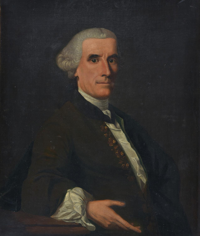 Follower of Alan Ramsay ' Portrait of a Gentleman of the Stewart family of Baulchin Perthshire, half