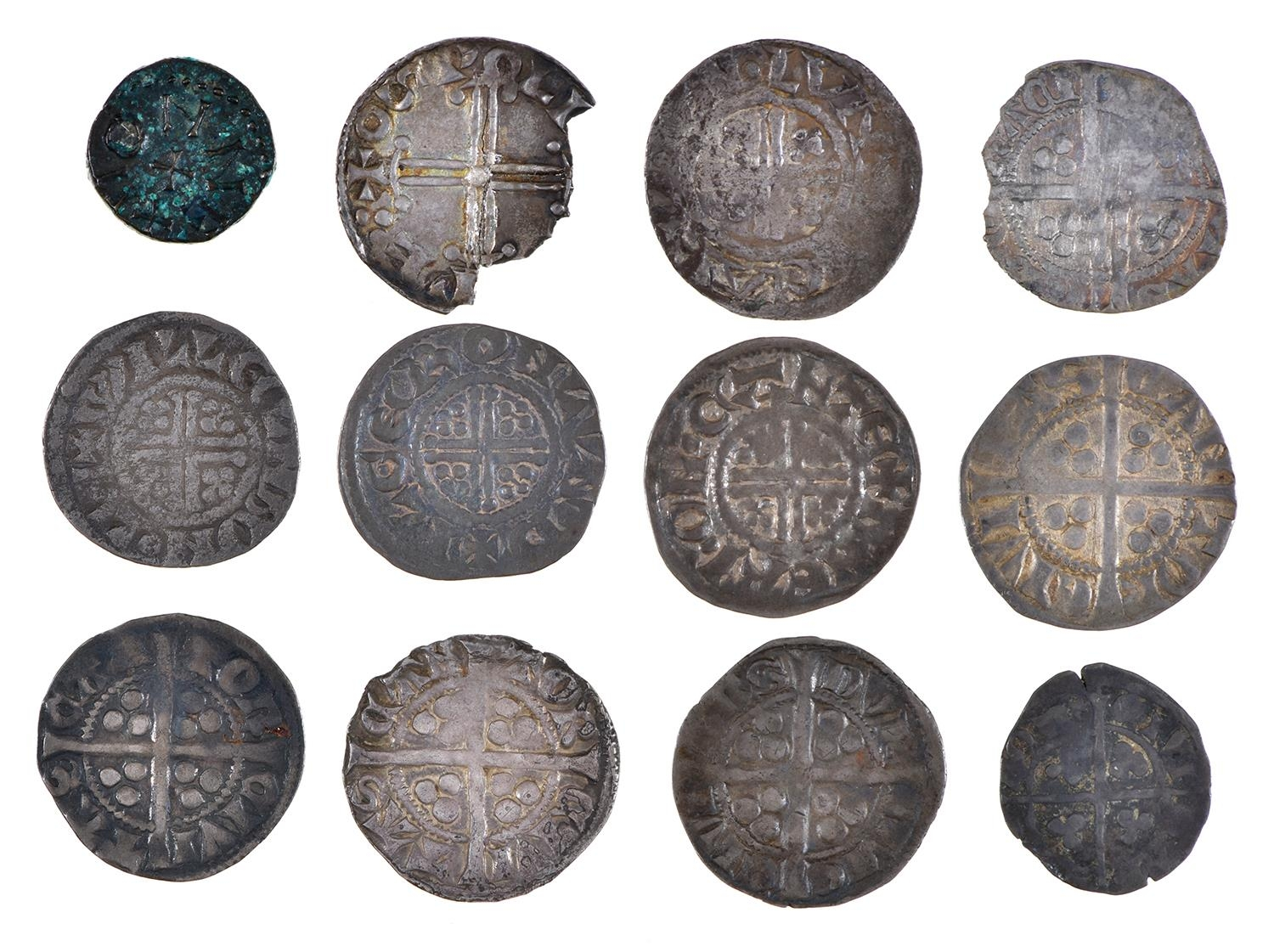 England, Anglo-Saxons, Aethelred II, Ae Sceat, MONNE, (ex-Seaby 85/- 1966), some verdigris, very - Image 2 of 2