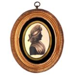 ThomasWheeler (fl. c1783-c1810) - Silhouette of a Lady, wearing her hair in a banging chignon and