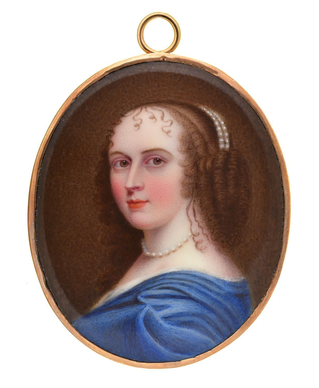 WilliamBate (fl c1799-c1845) after Jean Petitot-Anne 'Ninon' de l'Enclos (1620-1705),signed on the