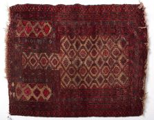 An antique Turkman rug - 83 x 120cm Light wear in places and some old encrusted soiling
