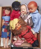A Lucky Premium Corp vinyl Rags to Riches seven piece jointed doll, 1950s, boxed, a Chiswick