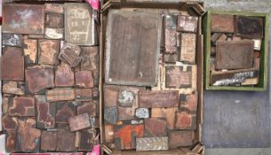 Miscellaneous etched copper printing plates, first half 20th c Dirt, dust and some soiling from long